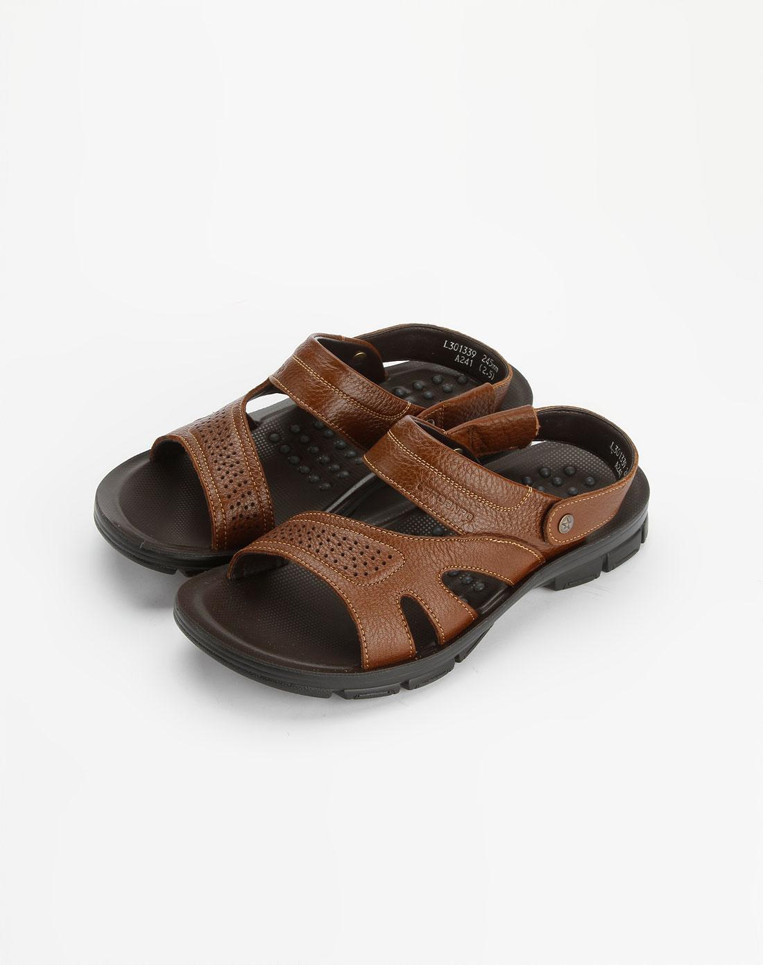 卡丹路cardanro土黄色时尚休闲凉鞋l301339