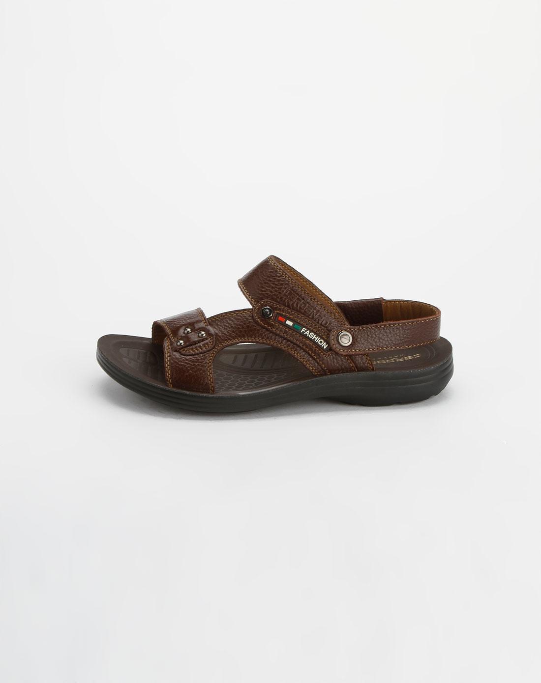 卡丹路cardanro男鞋专场-棕色时尚凉鞋