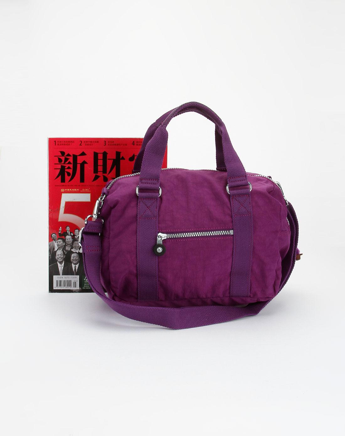 kipling紫色休闲斜挎包k13167607