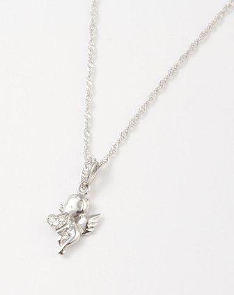 银色小天使可爱项链