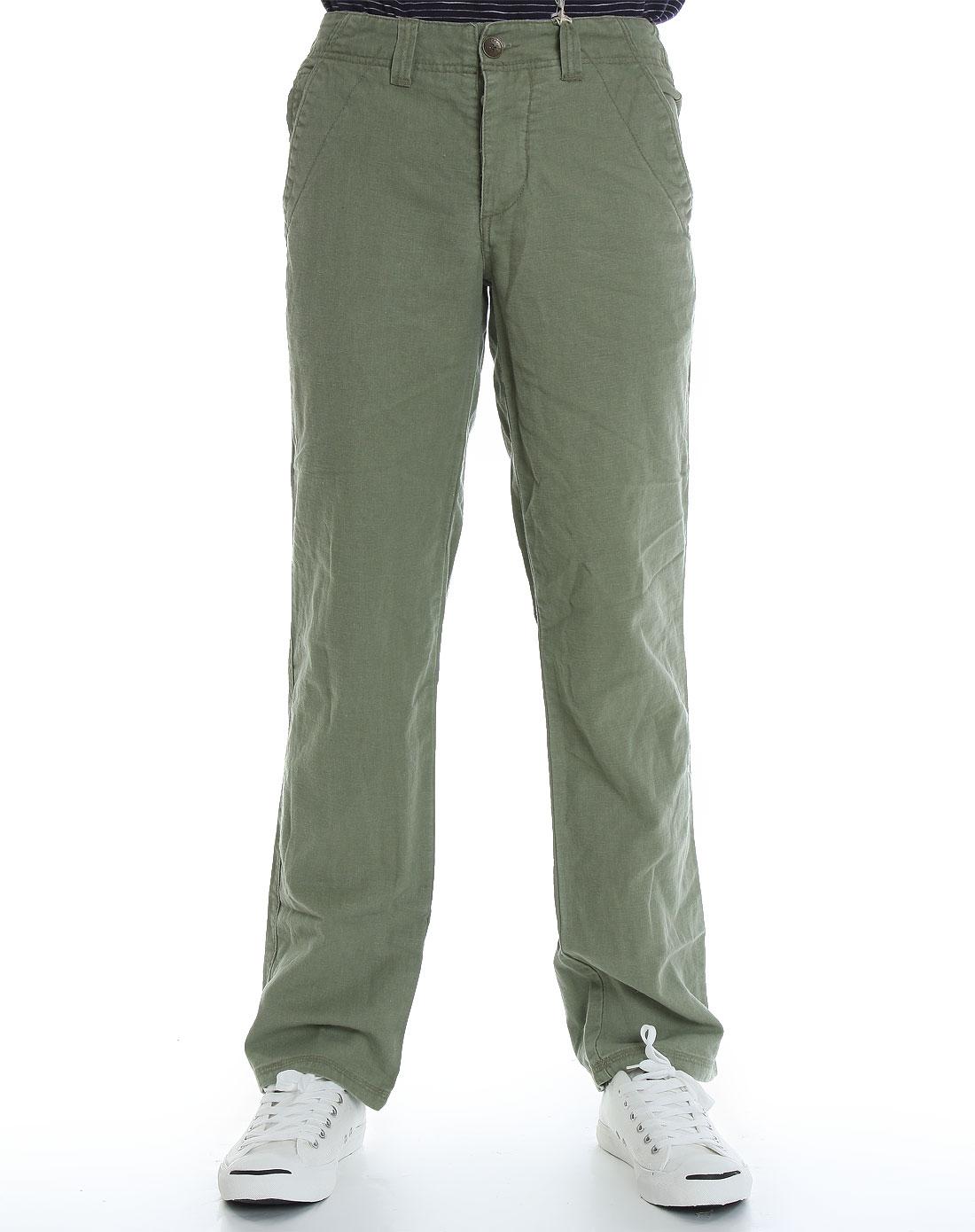 fox-男款灰绿色休闲长裤1