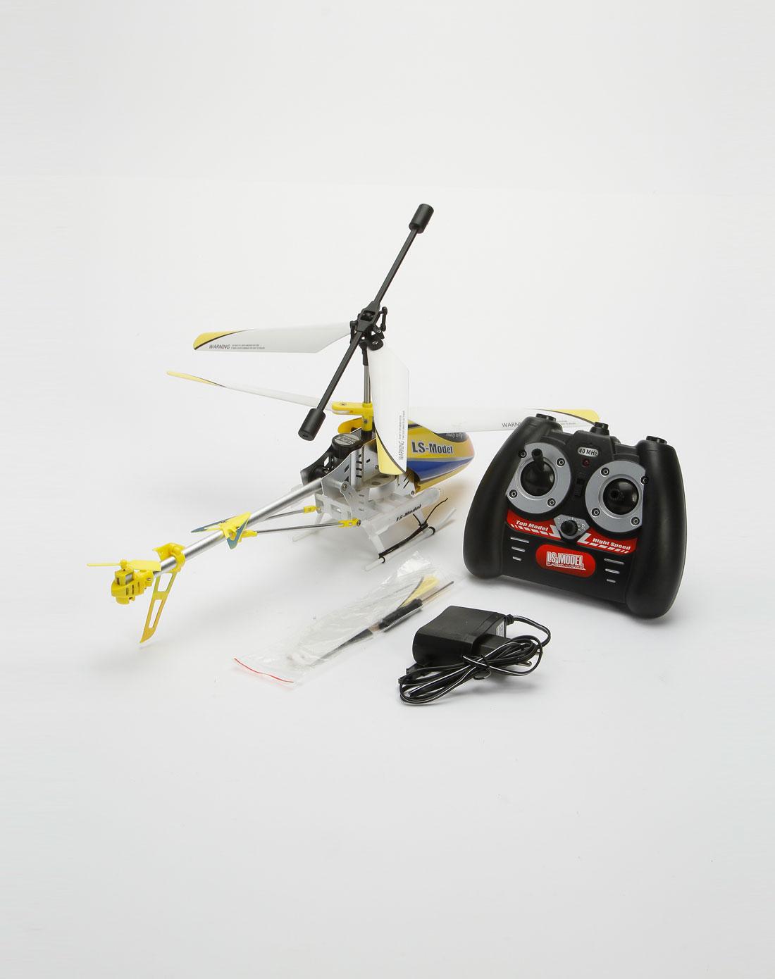 黄/白/黑色遥控直升飞机