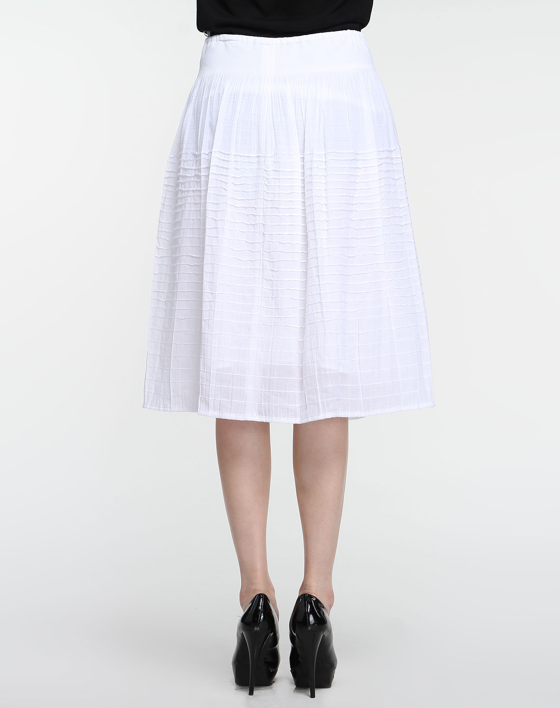 半哹�����y�:,,_漂白色休闲半裙