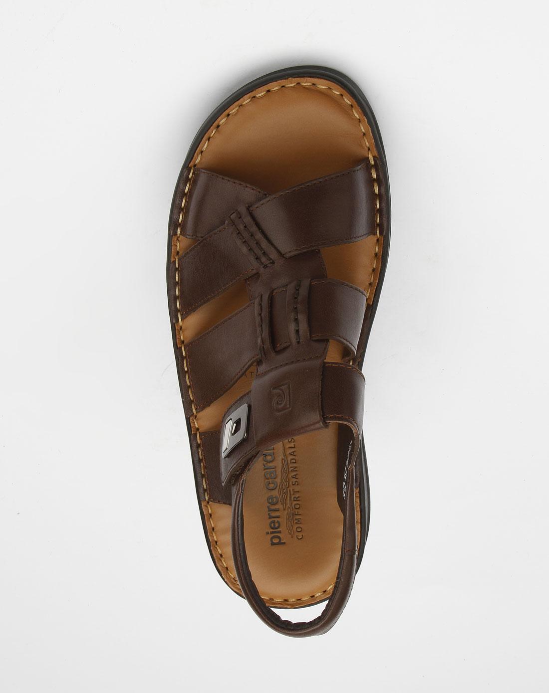 cardin-男款啡色时尚凉鞋