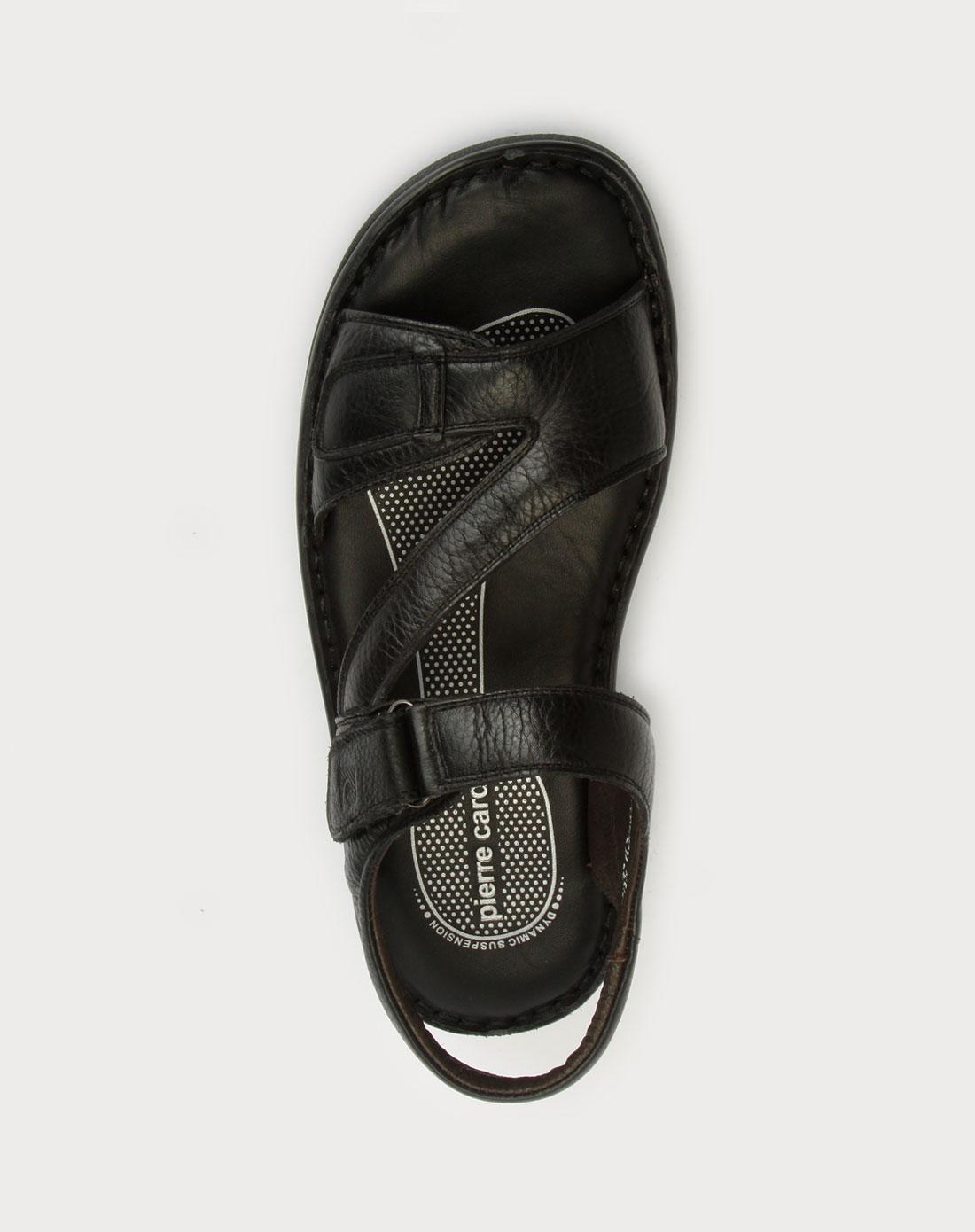 黑色休闲凉鞋_皮尔·卡丹pierre