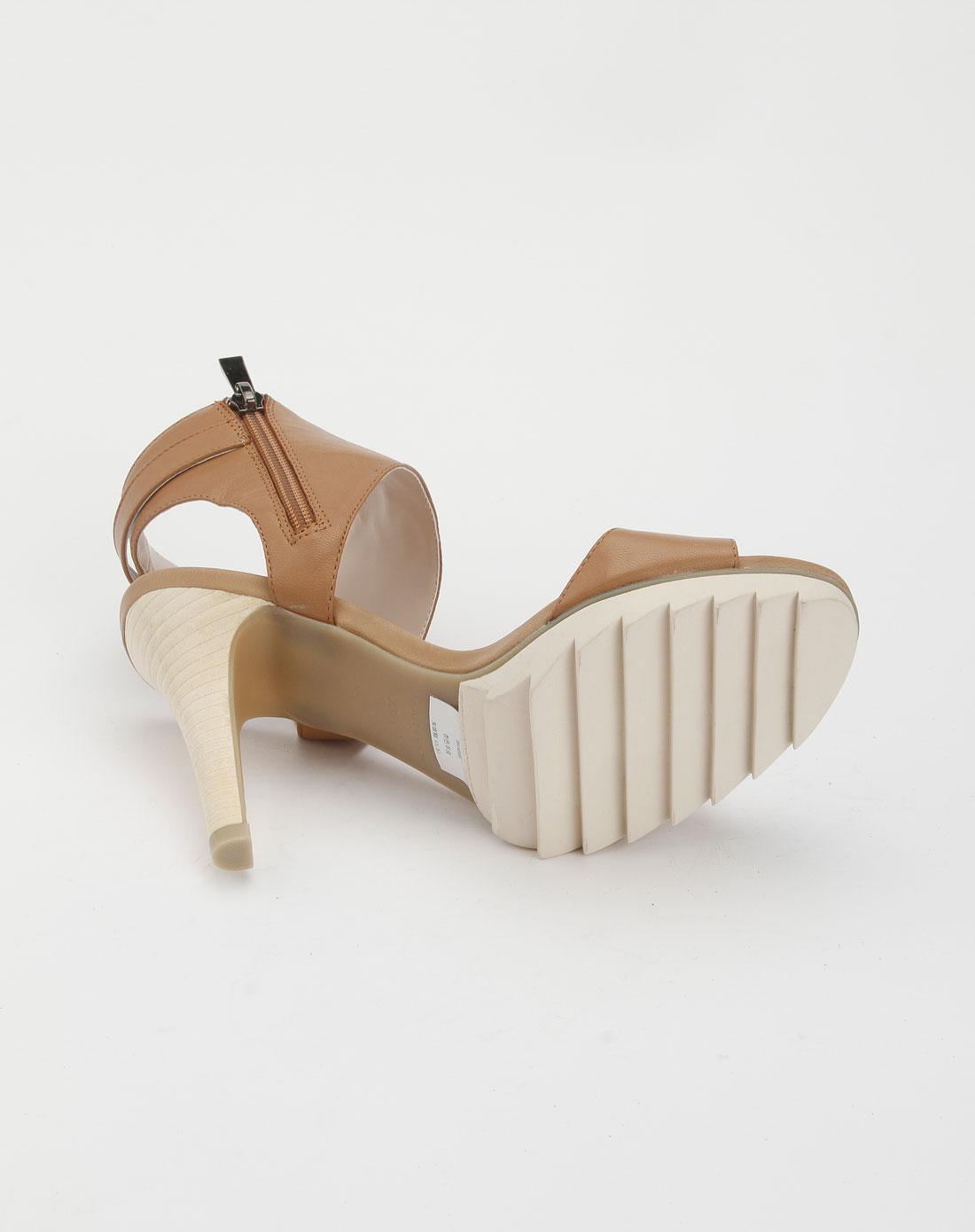 蜜丝罗妮marchiori杏色个性高跟凉鞋26142552-0038
