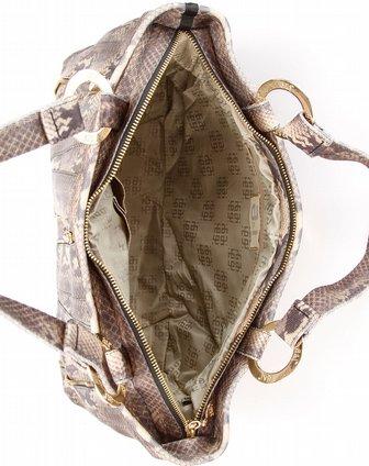 女款暗金色时尚蛇皮纹手提包