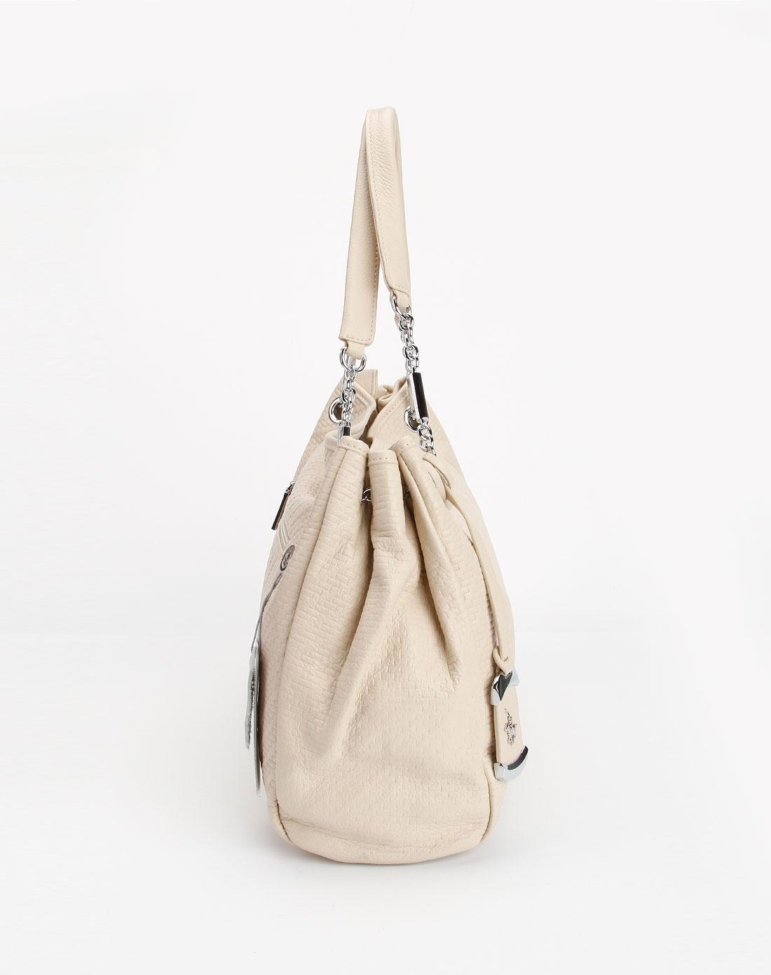 女款米白色印纹单肩包2 圣大保罗官网特价2 3.7 折图片
