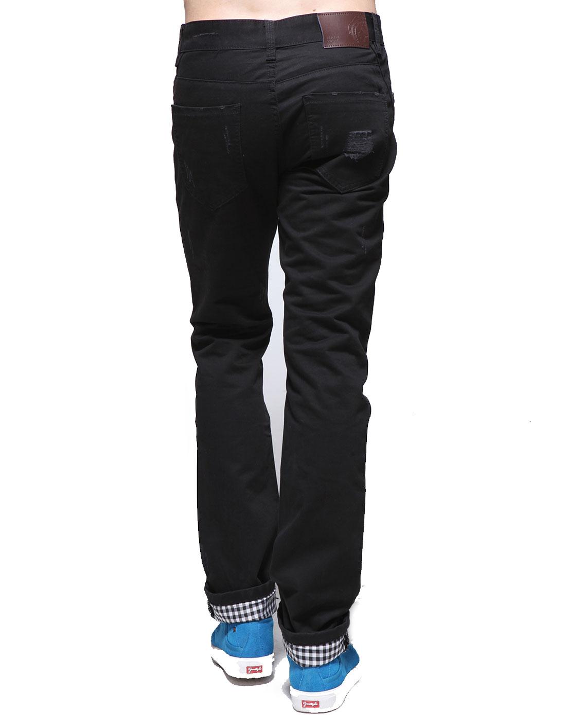 简时尚品justyle黑色休闲裤