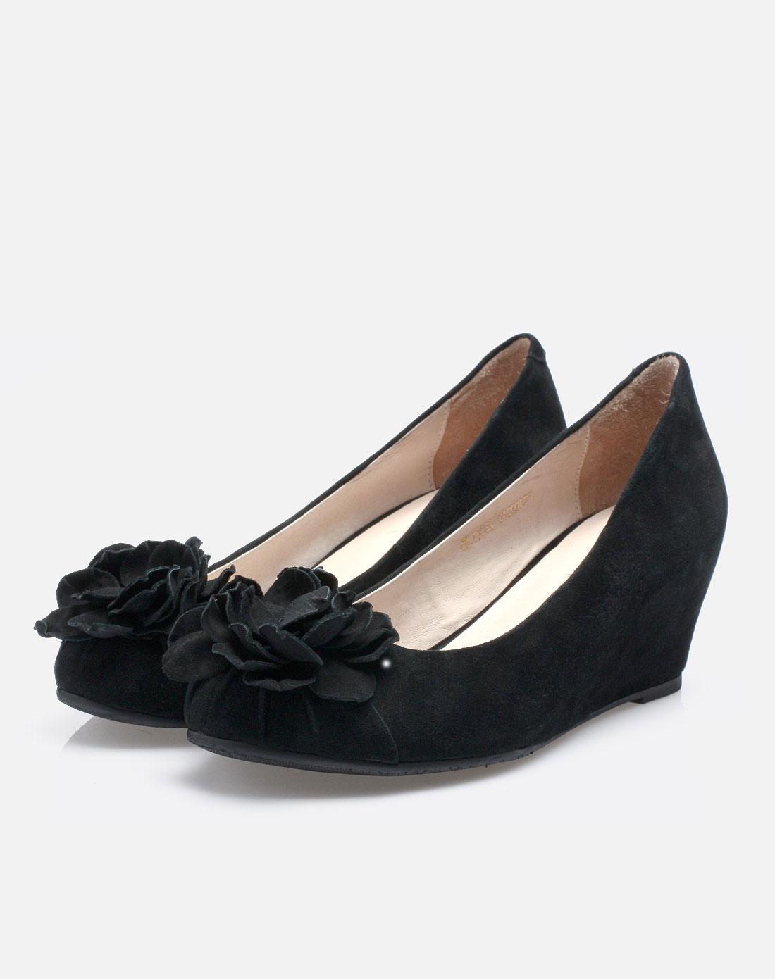 坡跟女单鞋f2100910