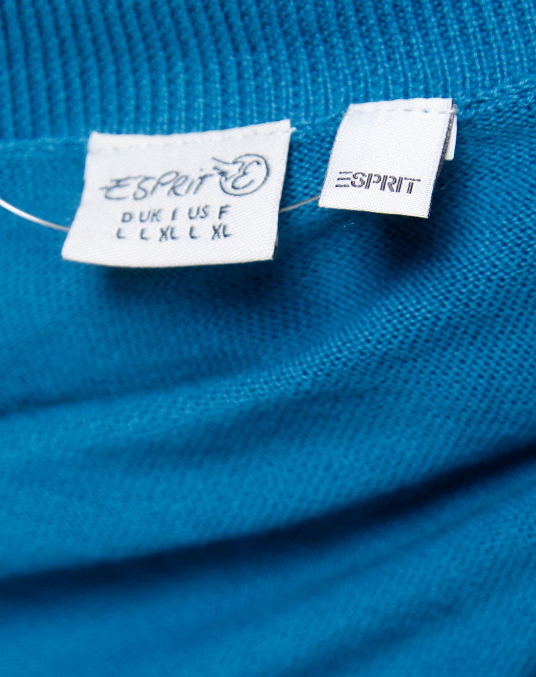 Esprit 女款海蓝色樽领长袖针织衫 埃斯普利特Esprit官网特价2.5图片