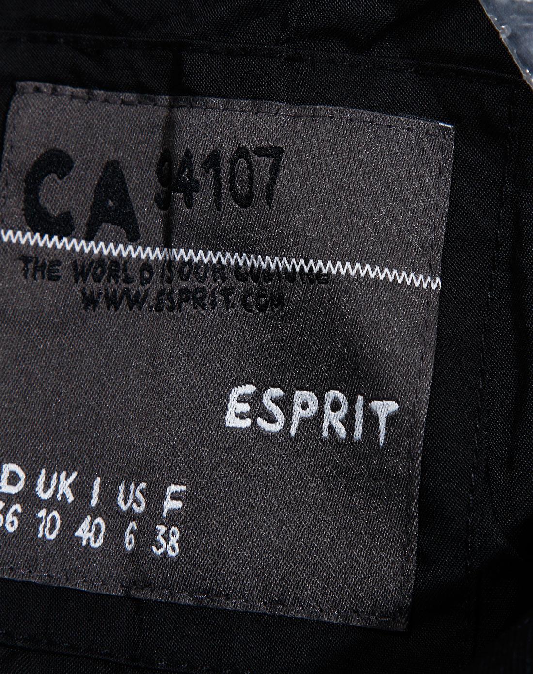 Esprit 女款黑色翻领长袖时尚外套 埃斯普利特Esprit官网特价2.5图片
