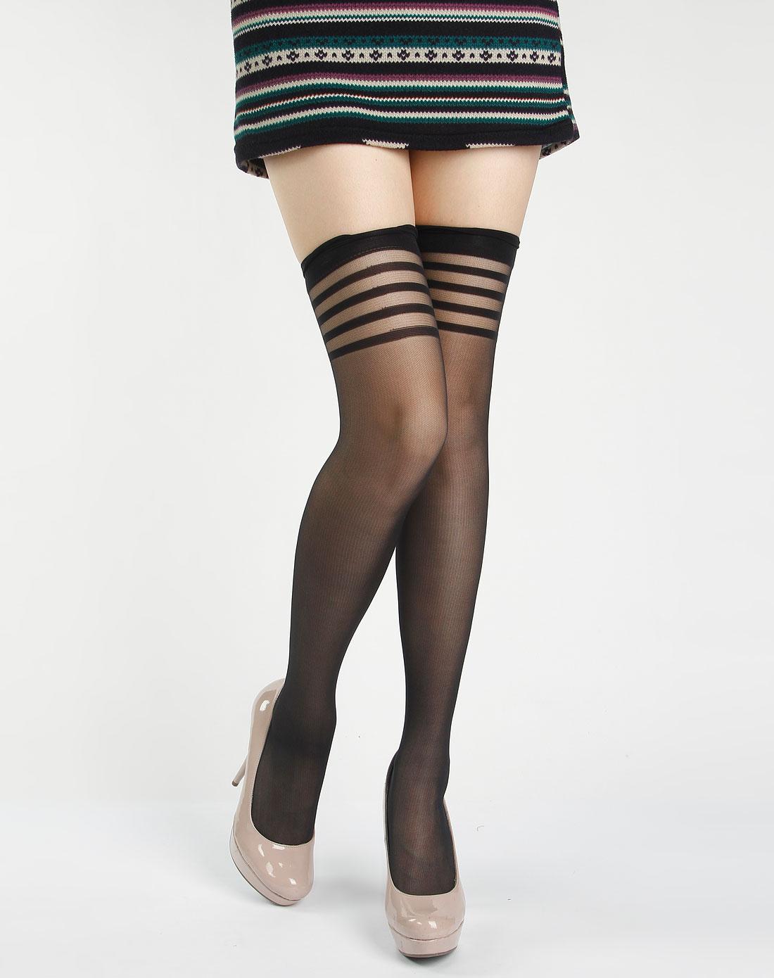 长筒袜女图片网