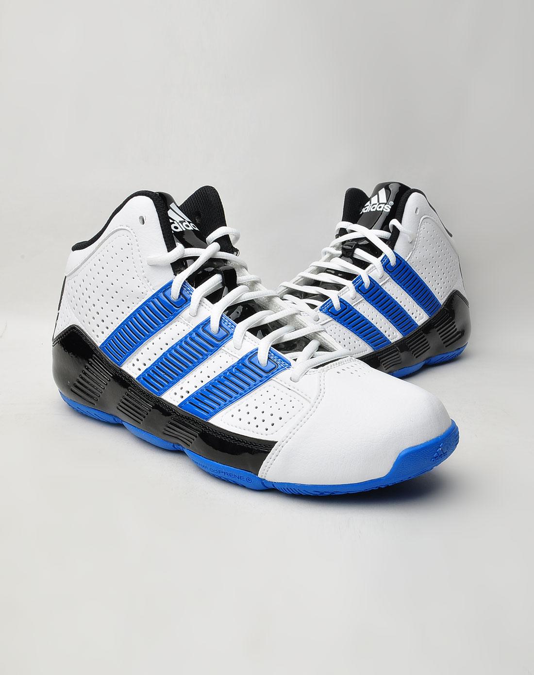 阿迪达斯adidas男鞋专场-男款白/蓝/黑色时尚运动鞋