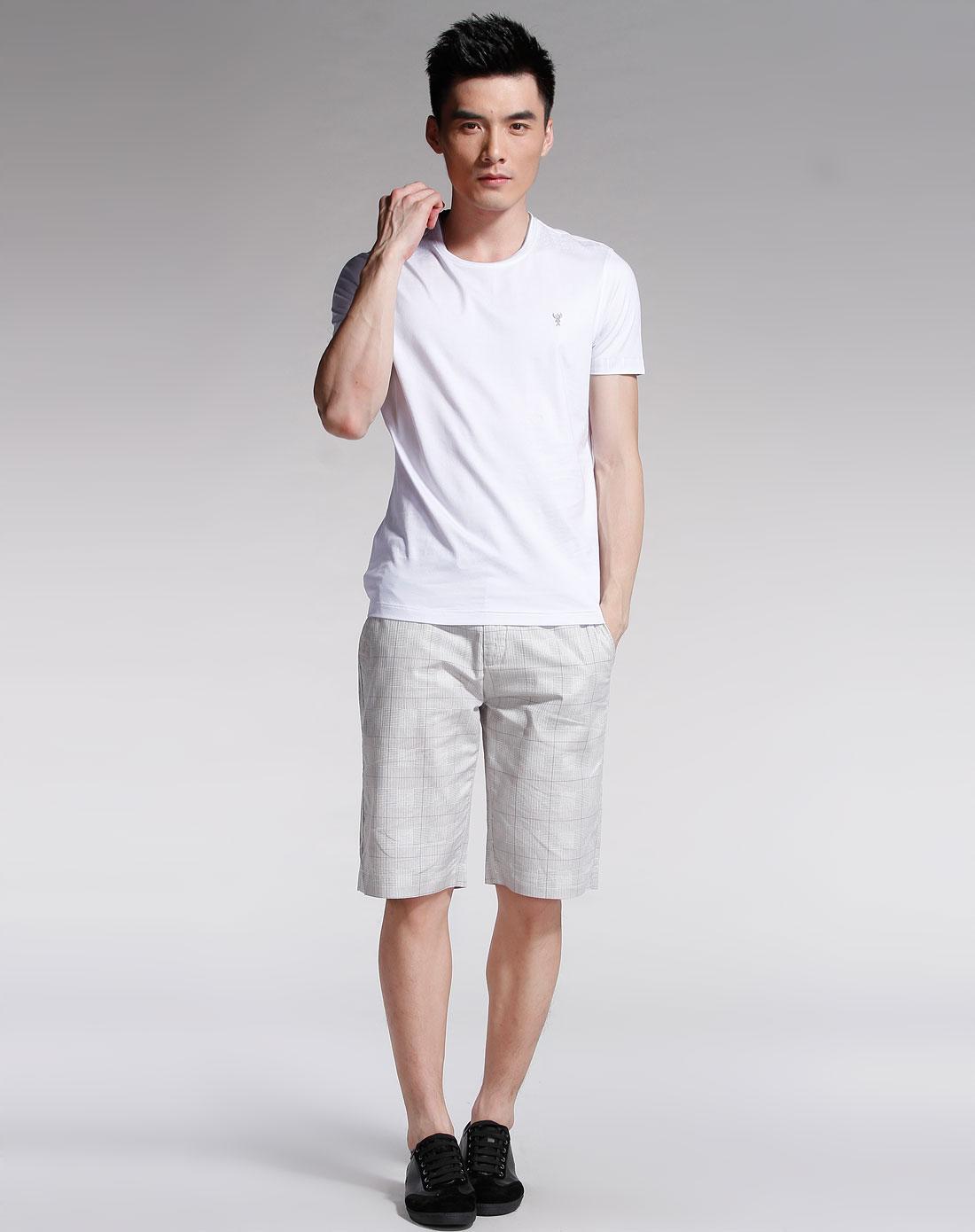 斐兰士francepal白色圆领短袖t恤