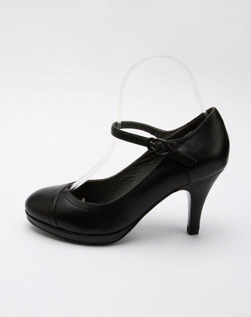 接吻猫kisscat女鞋专场女款黑色时尚高跟鞋