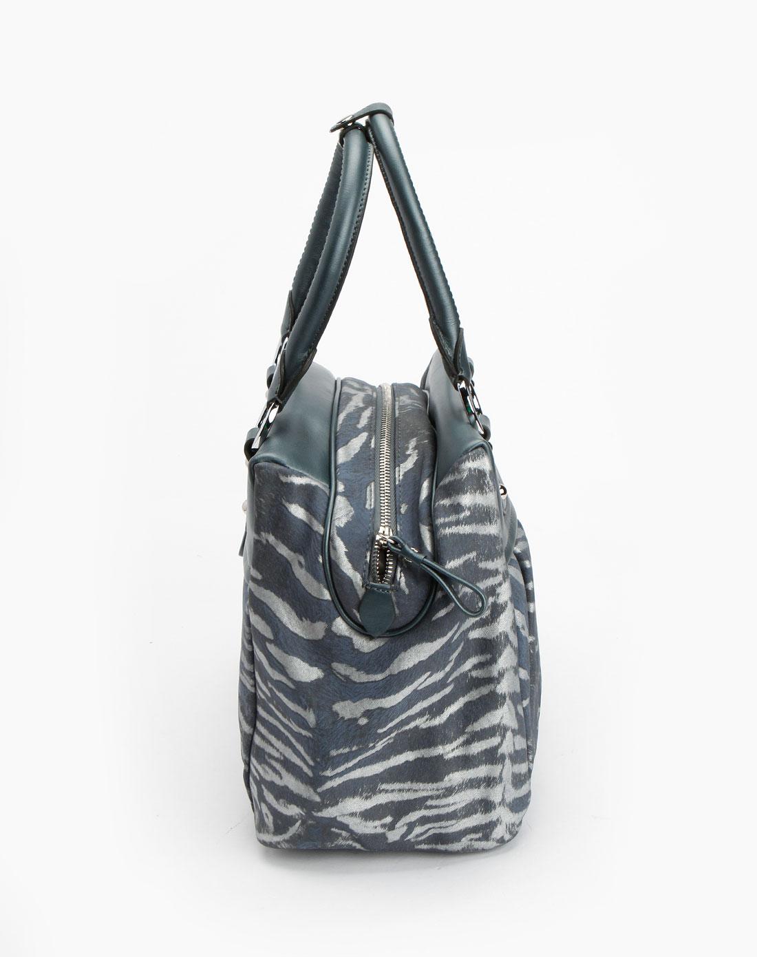 glusre蓝灰/银色印纹手提包