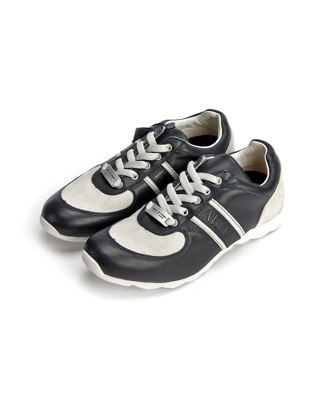 armani鞋子专场aj男款深蓝/白色休闲运动鞋f6v6786k5