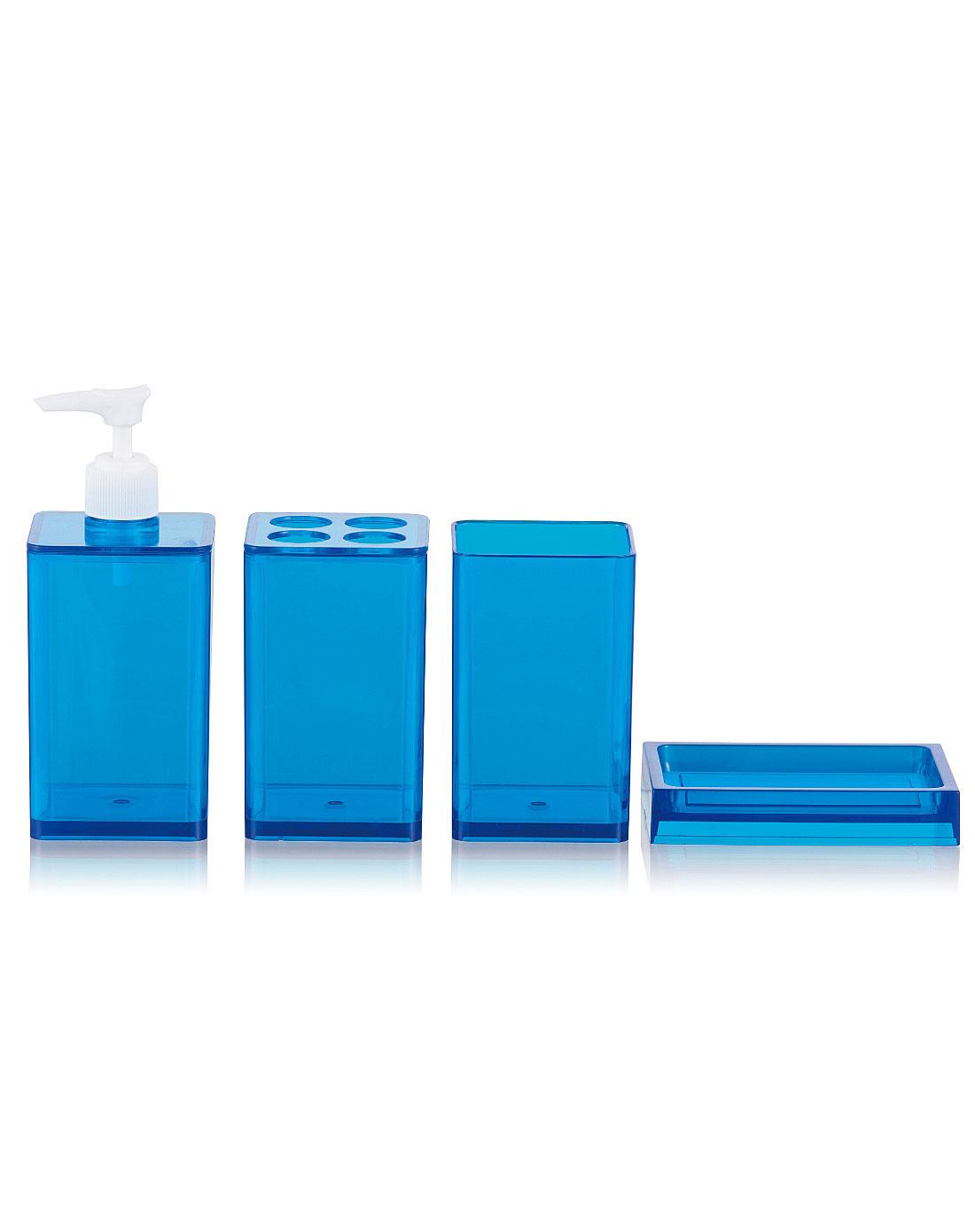 蓝色洗浴四件套