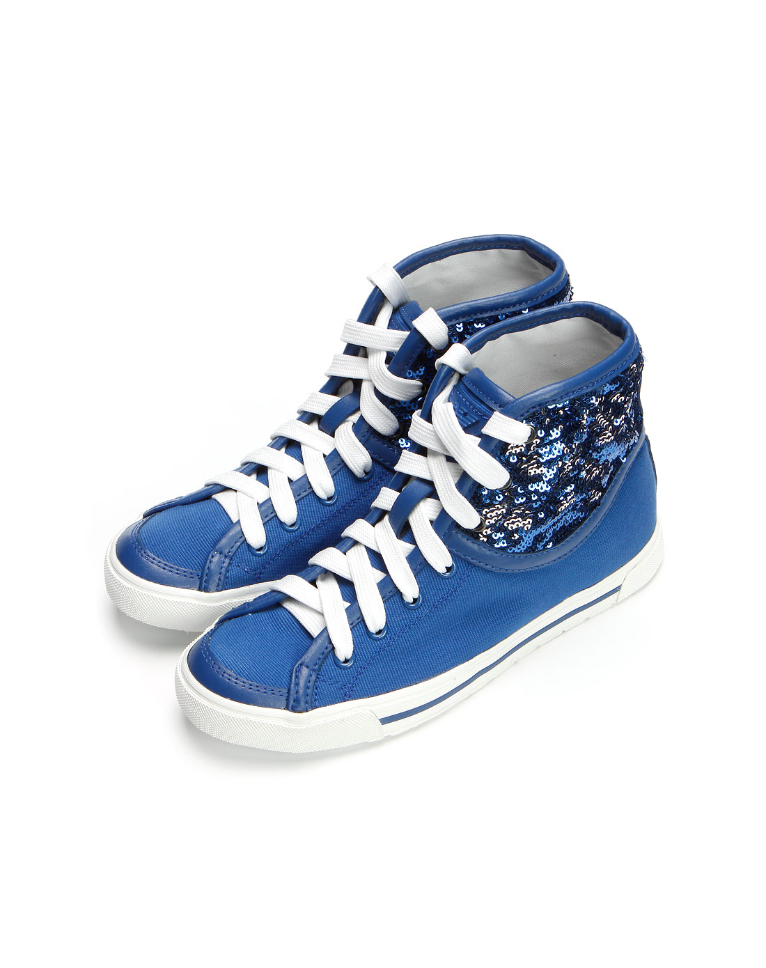 armani鞋子专场aj女款蓝色珠片高帮休闲鞋p5513