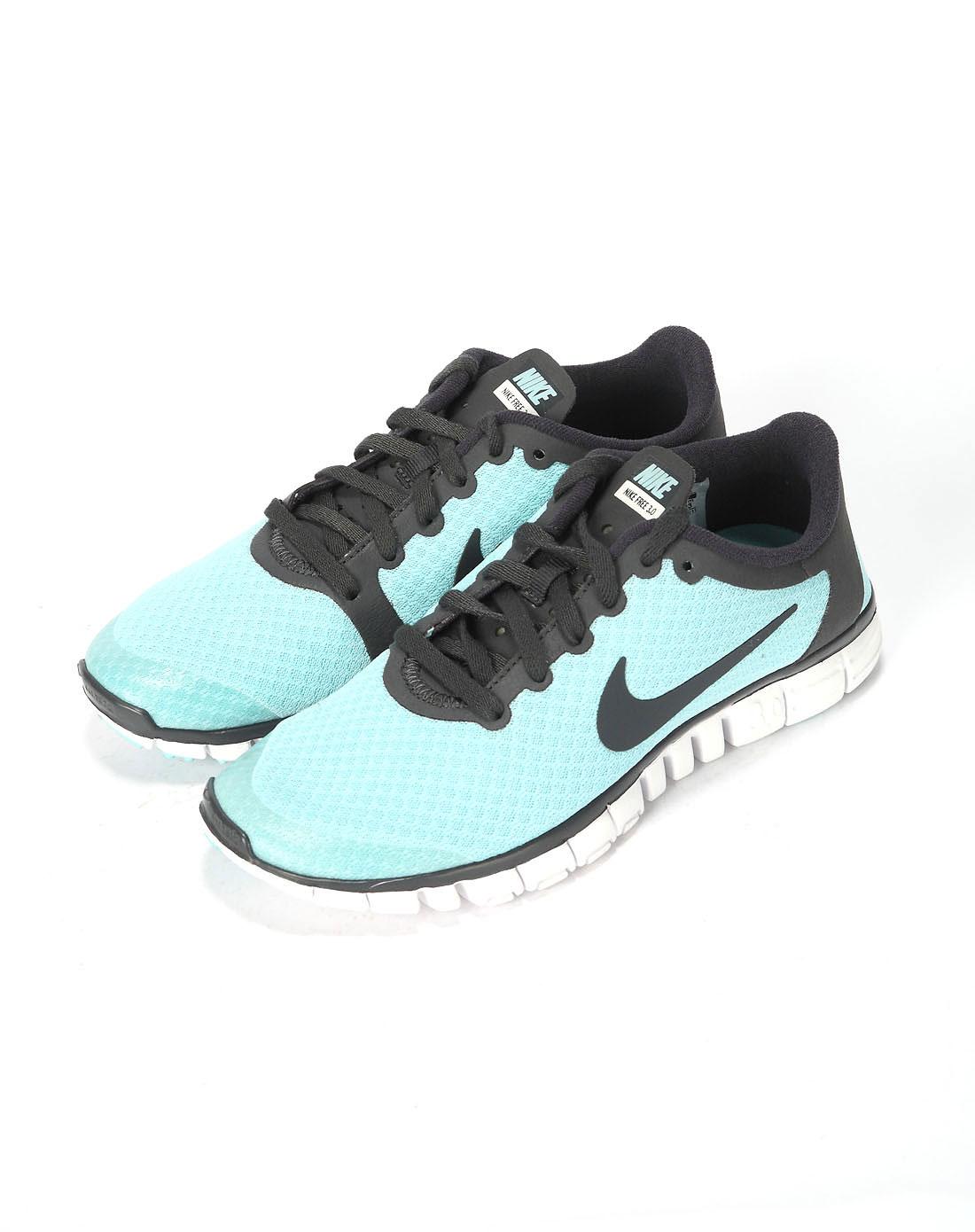 耐克nike女款蓝白黑跑步鞋