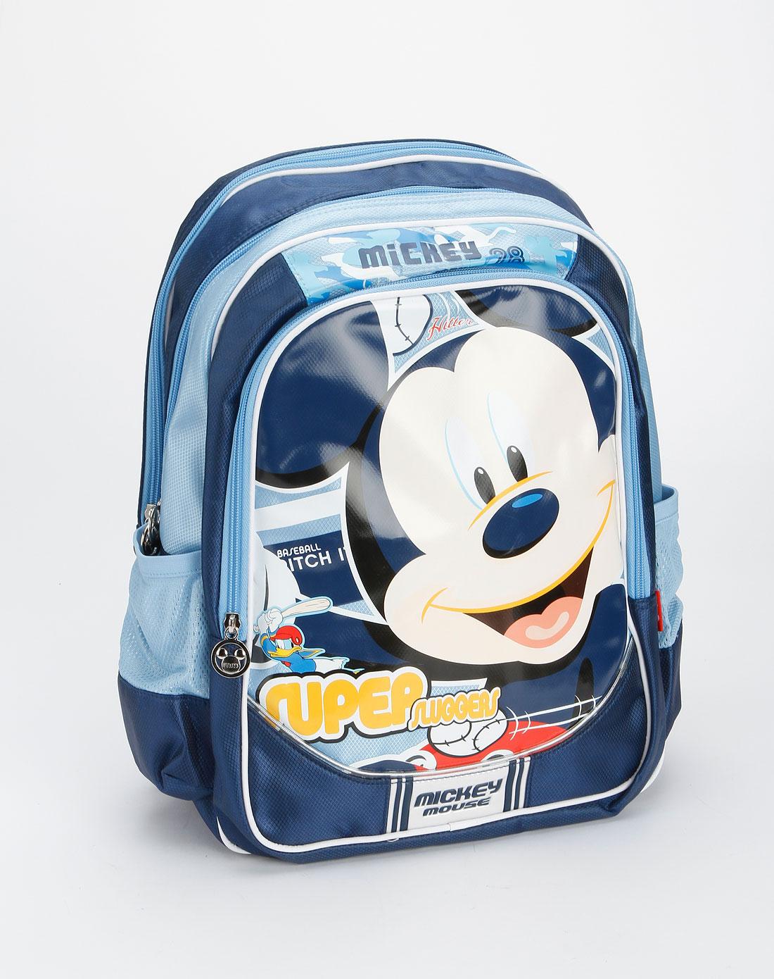 迪士尼disney儿童用品专场男童宝蓝色米奇卡通学生mb