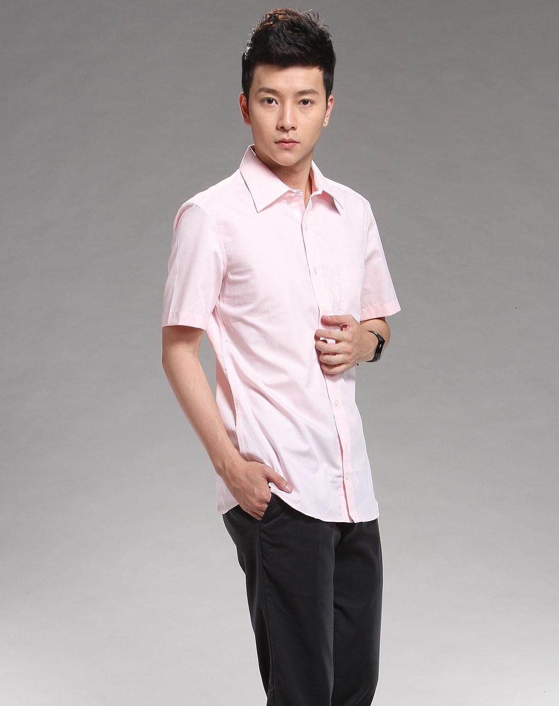 g2000粉红色休闲短袖衬衫_唯品会名牌时尚折扣网