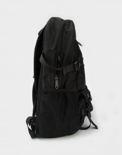 美特斯邦威-黑色化纤双肩电脑背包