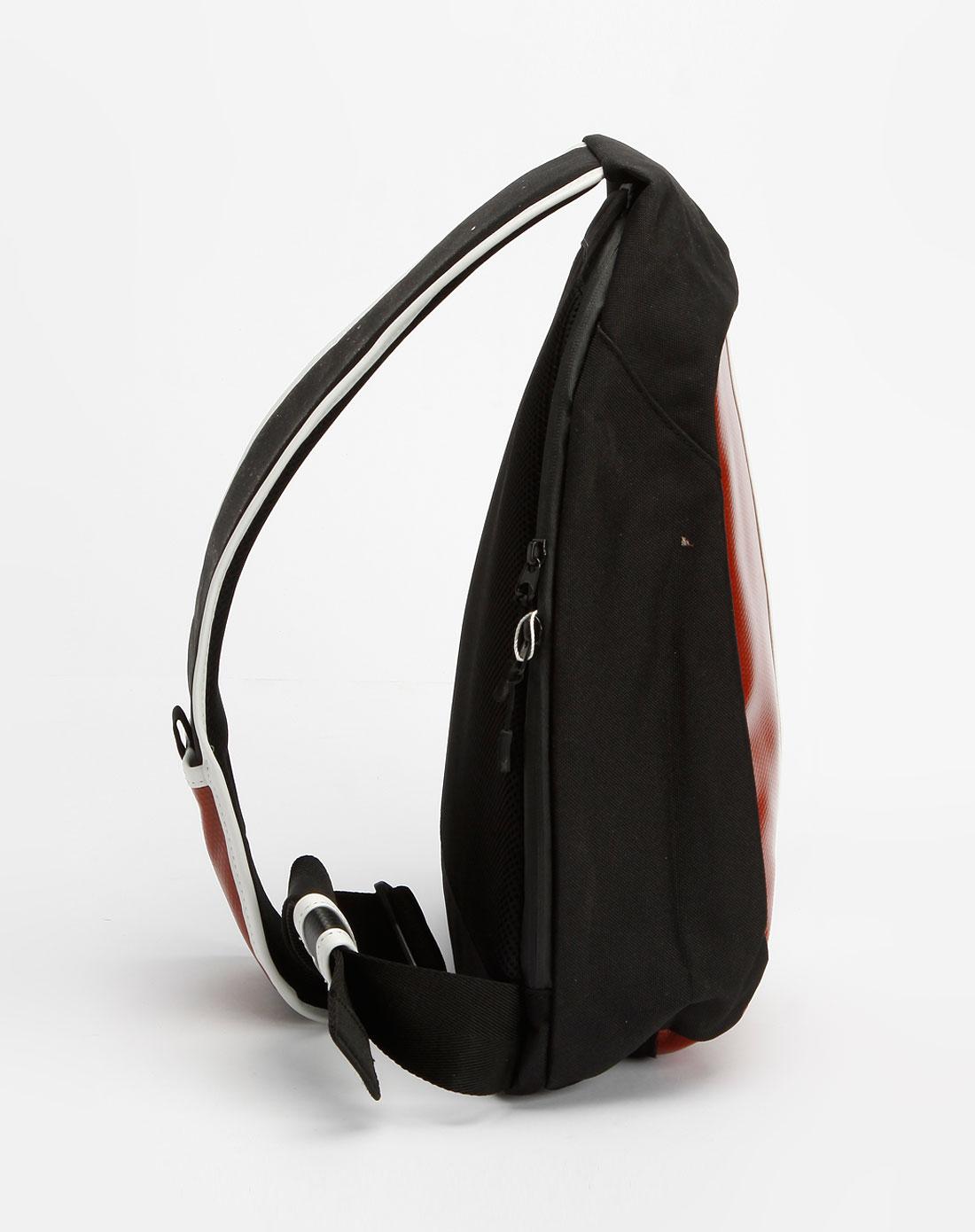 法国鳄鱼包包lacoste红/黑/白色个性斜背包