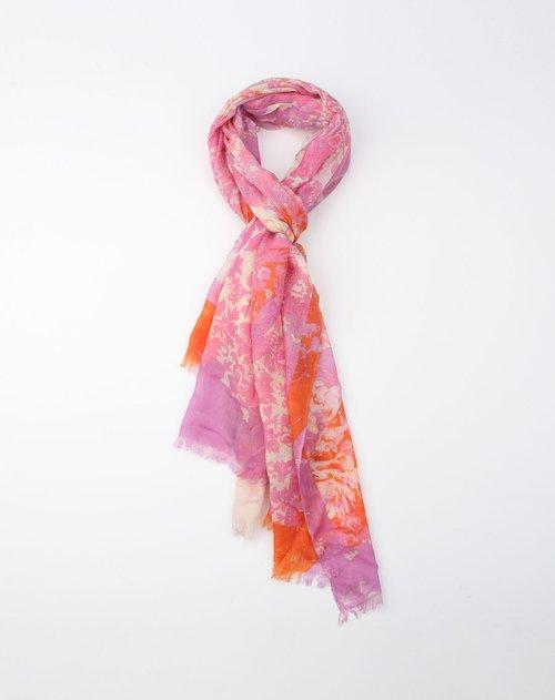 简单漂亮手绘丝巾
