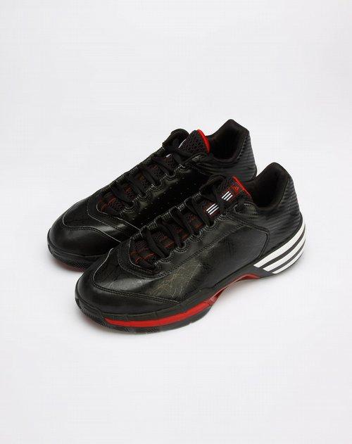 阿迪达斯adidas男装黑/白色印图运动鞋