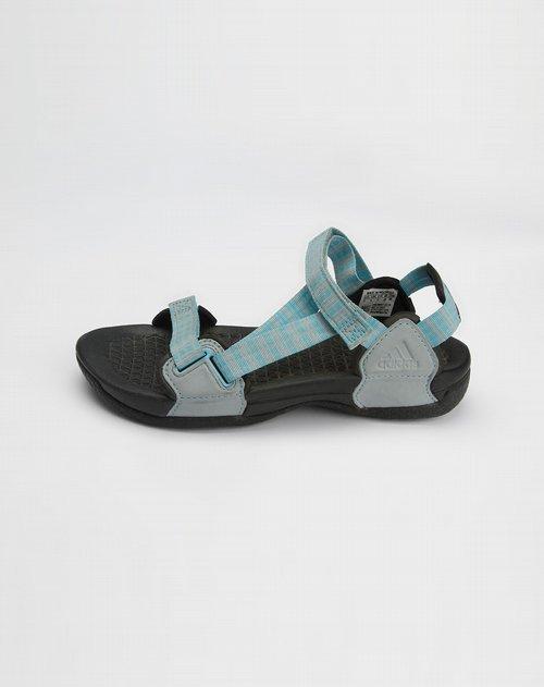 阿迪达斯adidas-女款浅蓝色休闲凉鞋