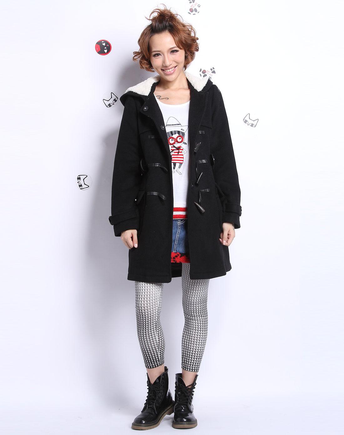 a02女装_a02女装专场-黑色个性简约长袖外套