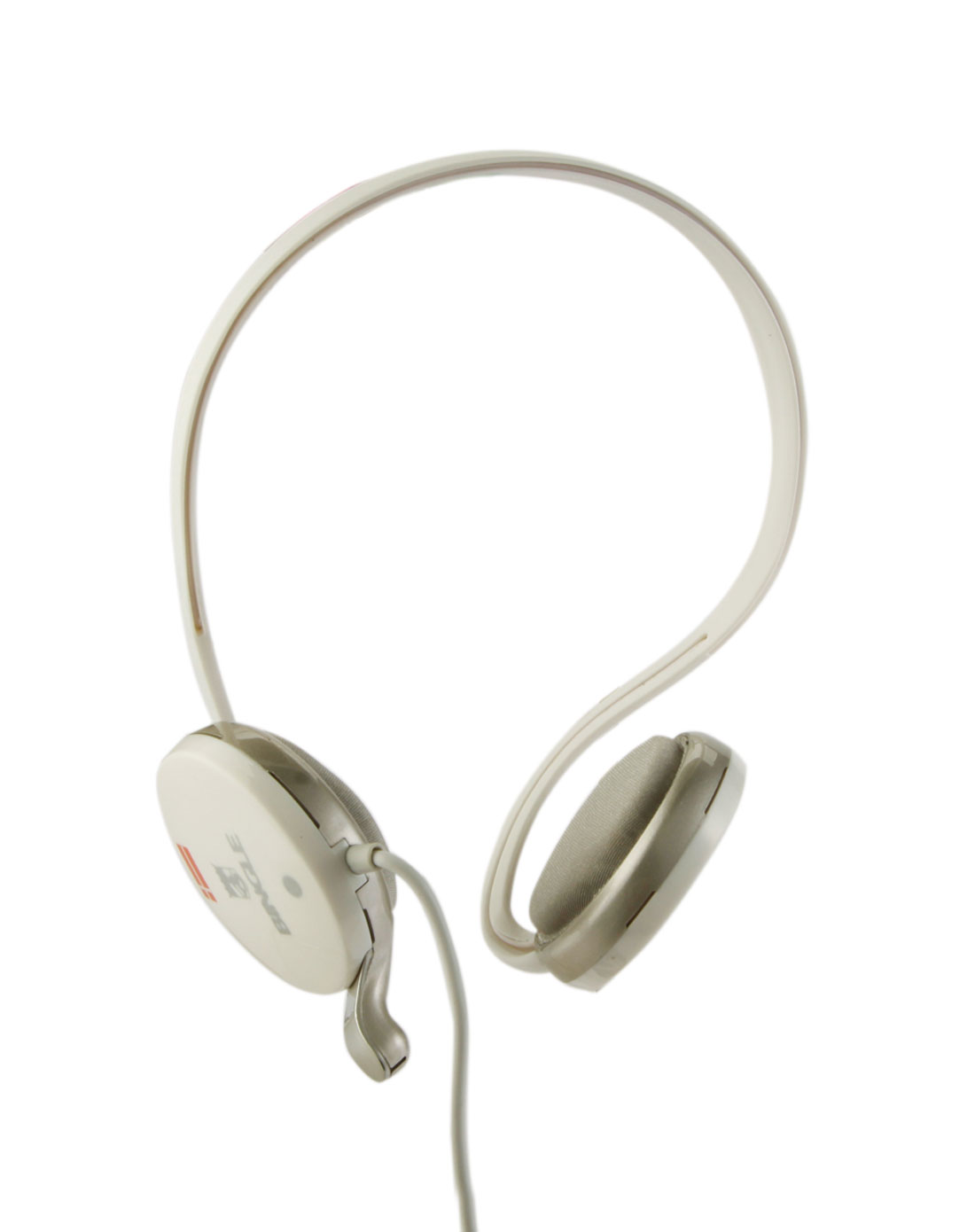 宾果白色后挂式耳机麦克风