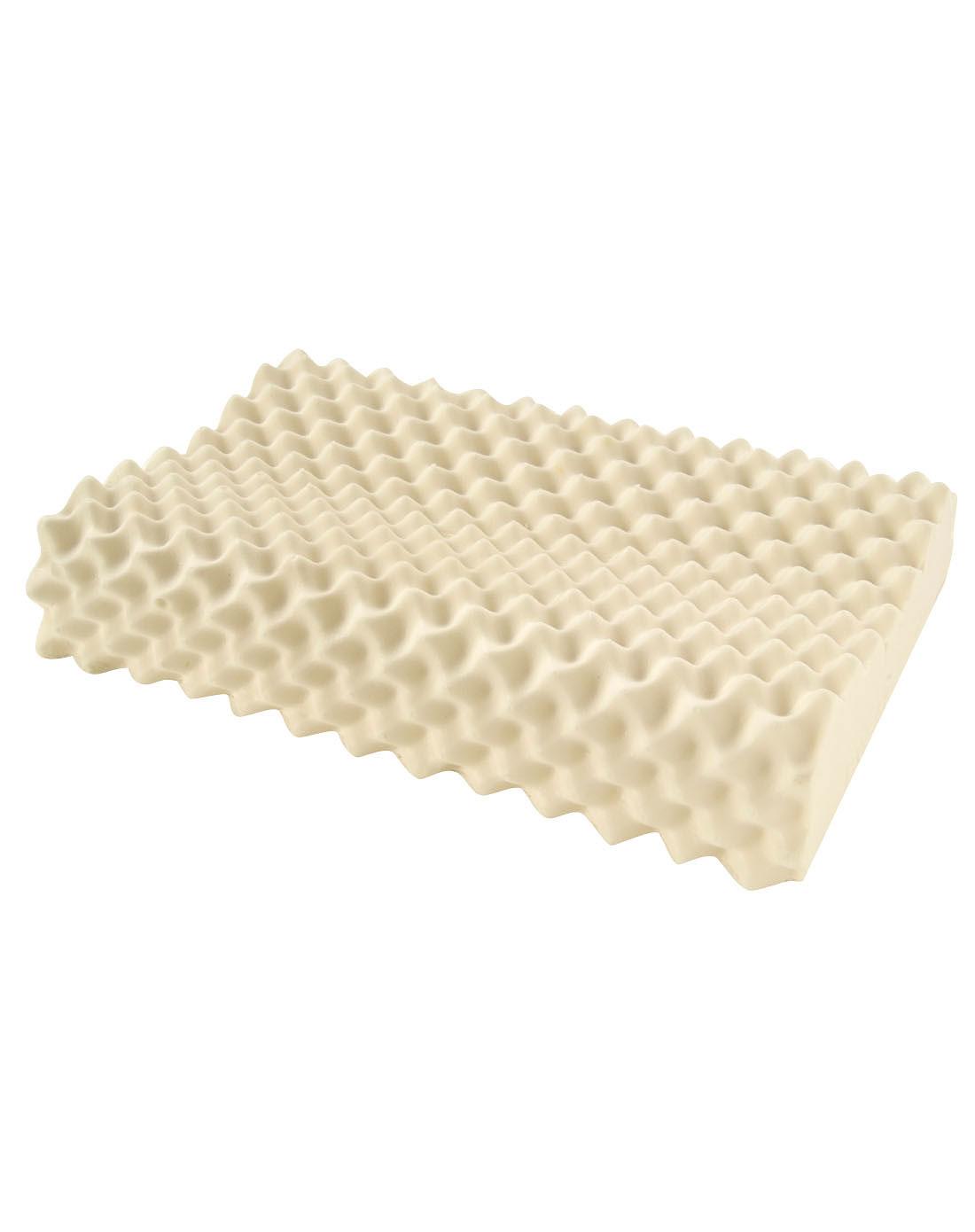 米白色超大按摩颗粒乳胶枕图片