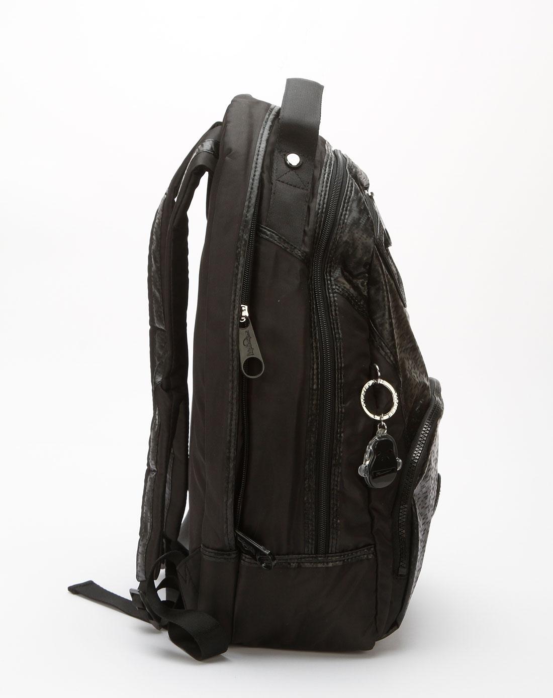 kipling黑色格纹双肩背包k24079936