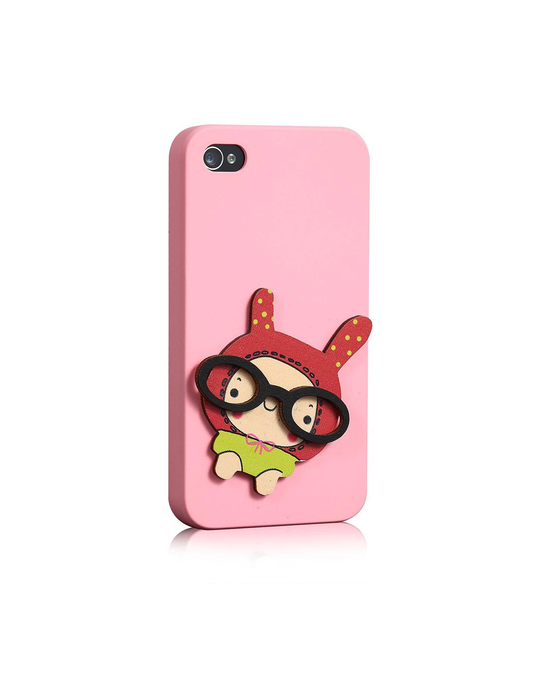 iphone4/4s眼镜娃娃可爱手机套