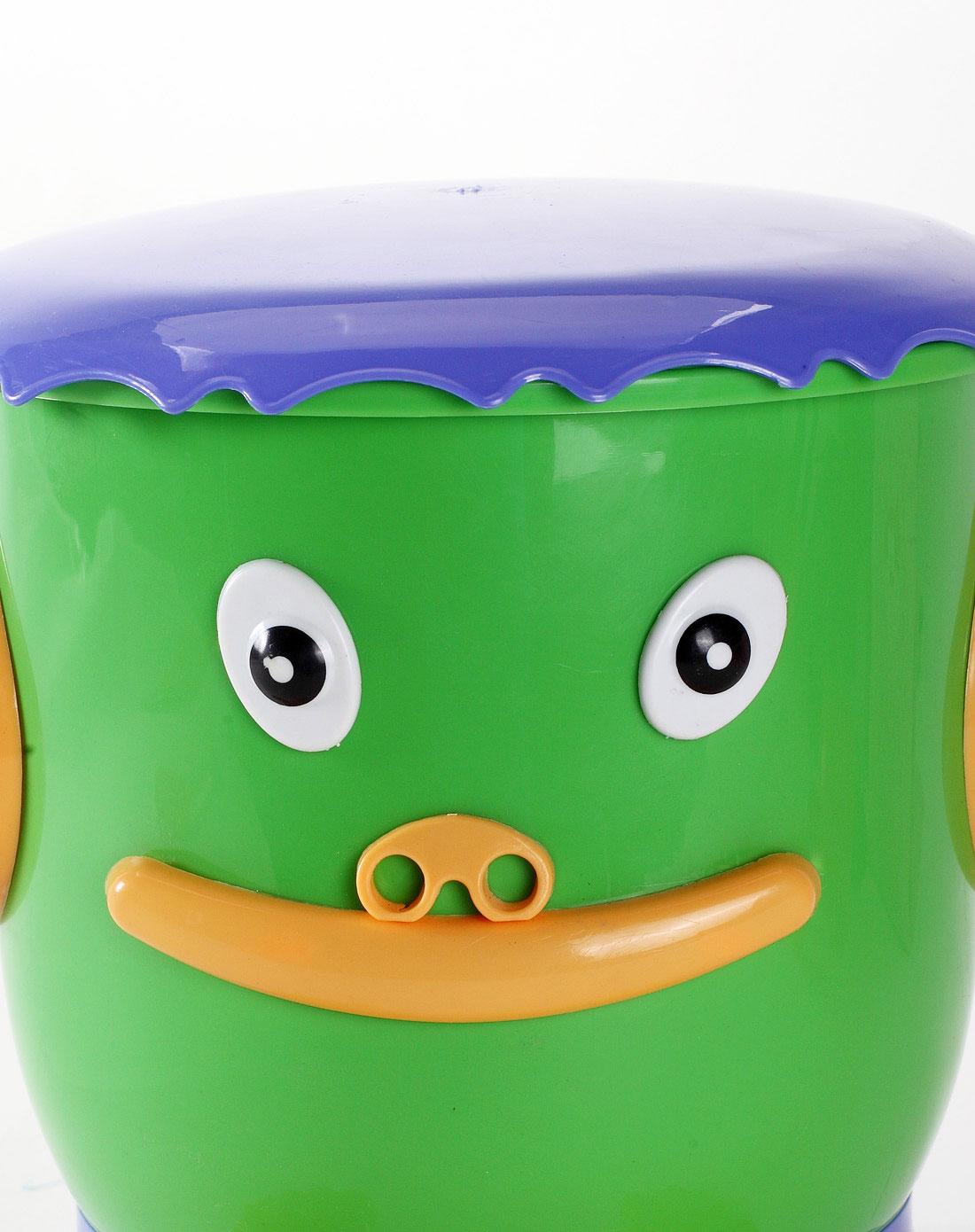 h&3家居用品专场绿色卡通造型垃圾桶 3l