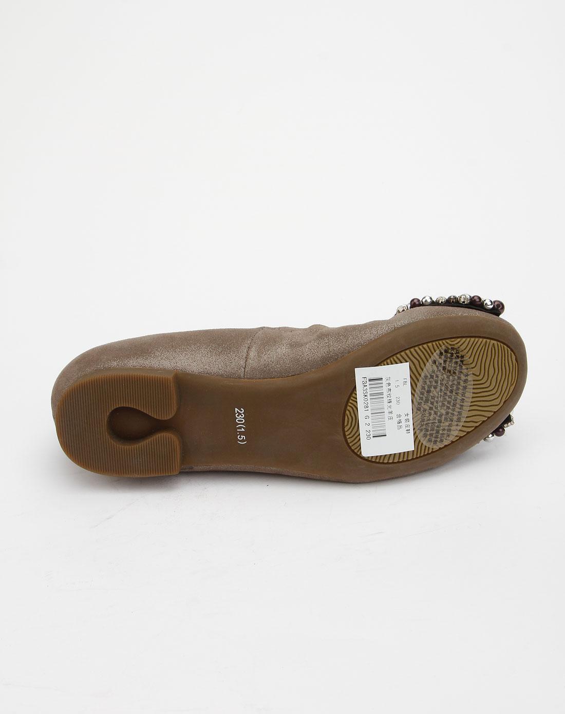 菲伯丽尔fbl女款灰色时尚平底鞋fba3sk0281g2