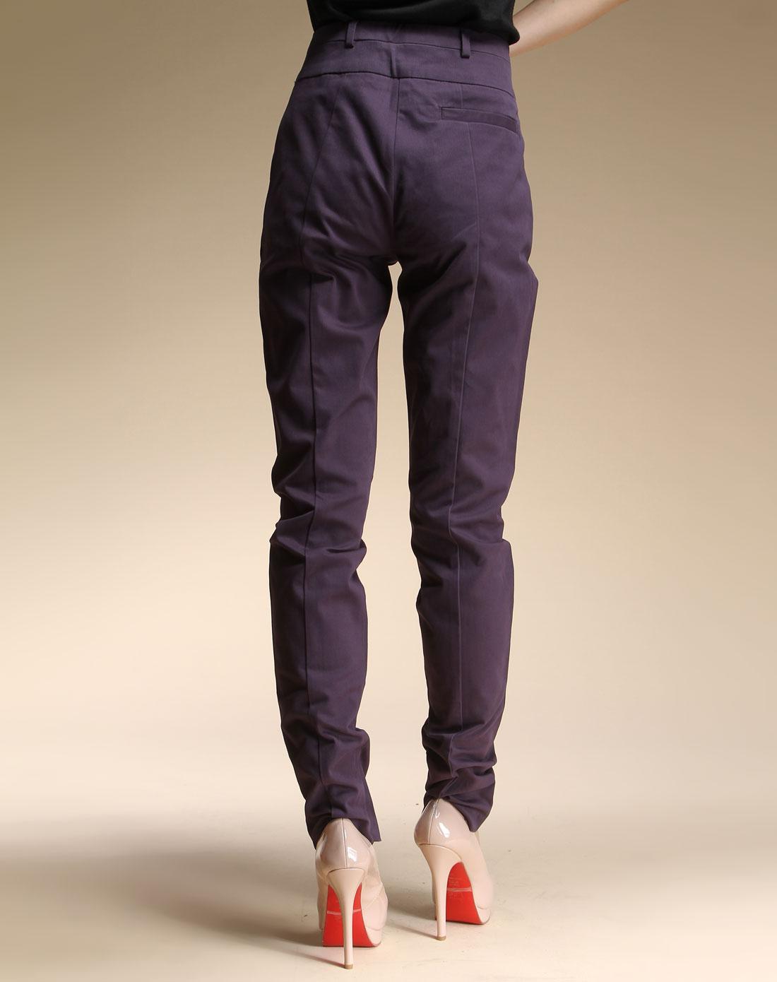 armani牛仔裤专场aj女款秀丽优雅修身长裤深紫色n51r5