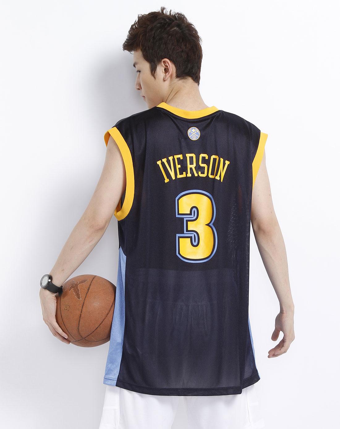 阿迪达斯adidas-男装专场男款墨蓝/橙色金块队篮球衫