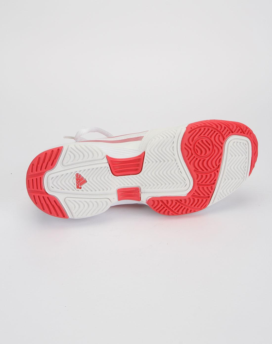 阿迪达斯adidas白底粉色时尚网球鞋g42735