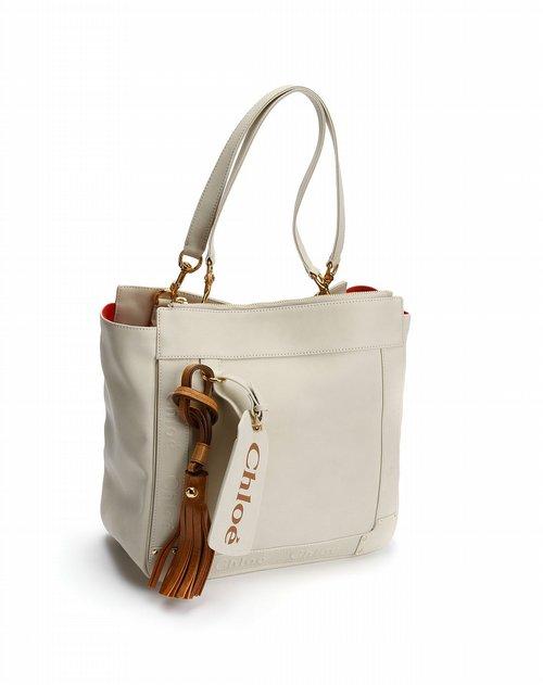 女款米白色时尚单肩包 混合包包专场特价5.2折起图片