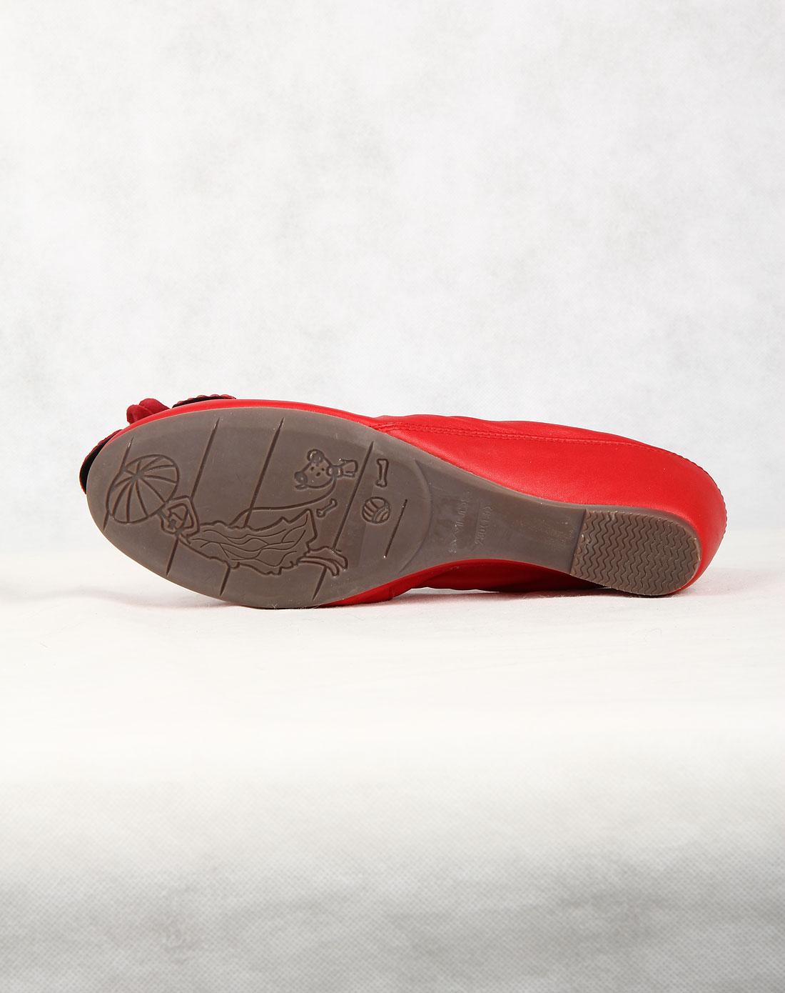 四季风女款红时尚休闲单鞋a1703-3r01