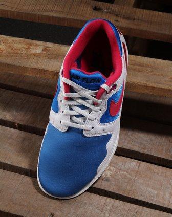 耐克nike-白/蓝色air flow运动鞋458206-400