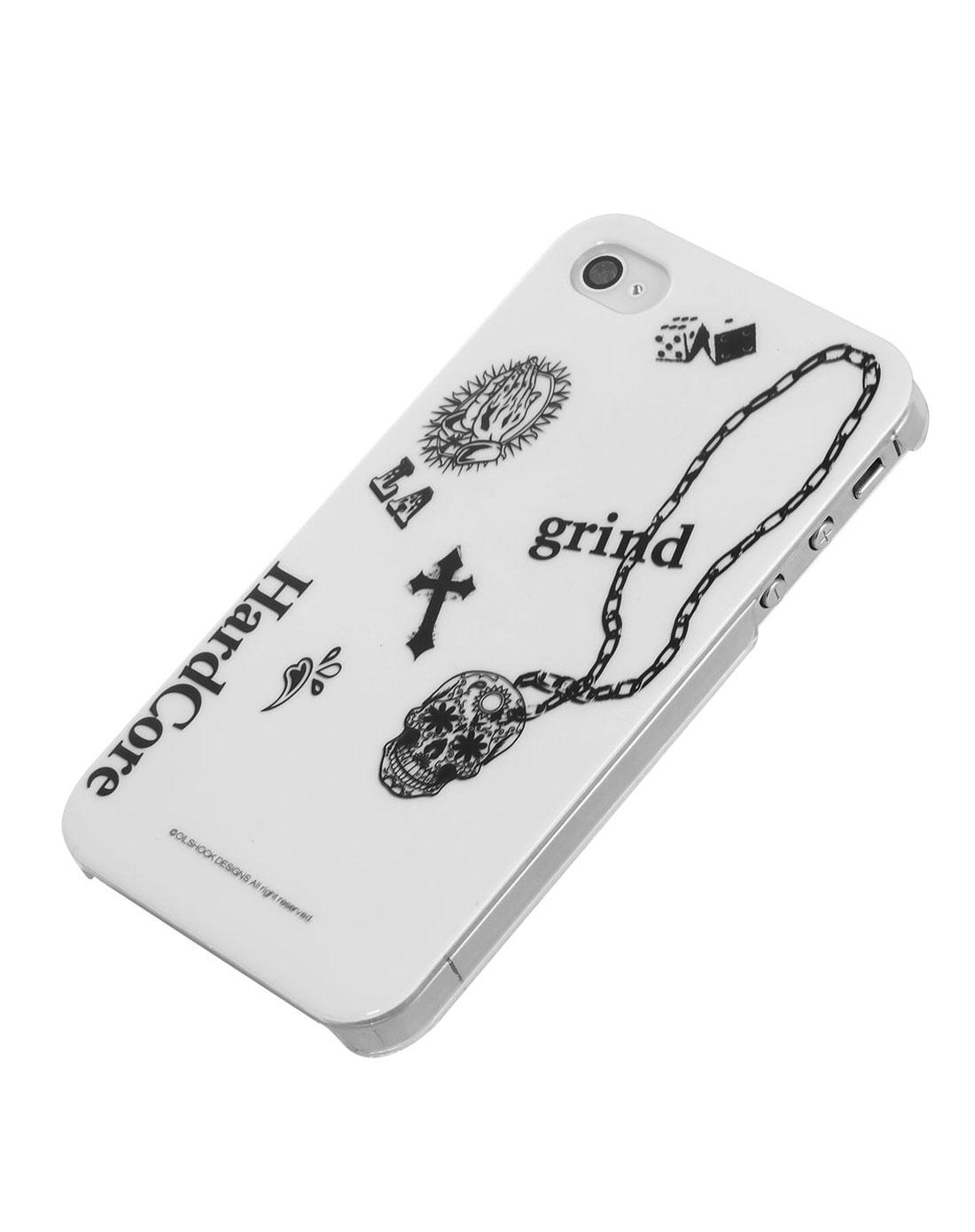 iphone4/4s时尚diy手机壳黑白