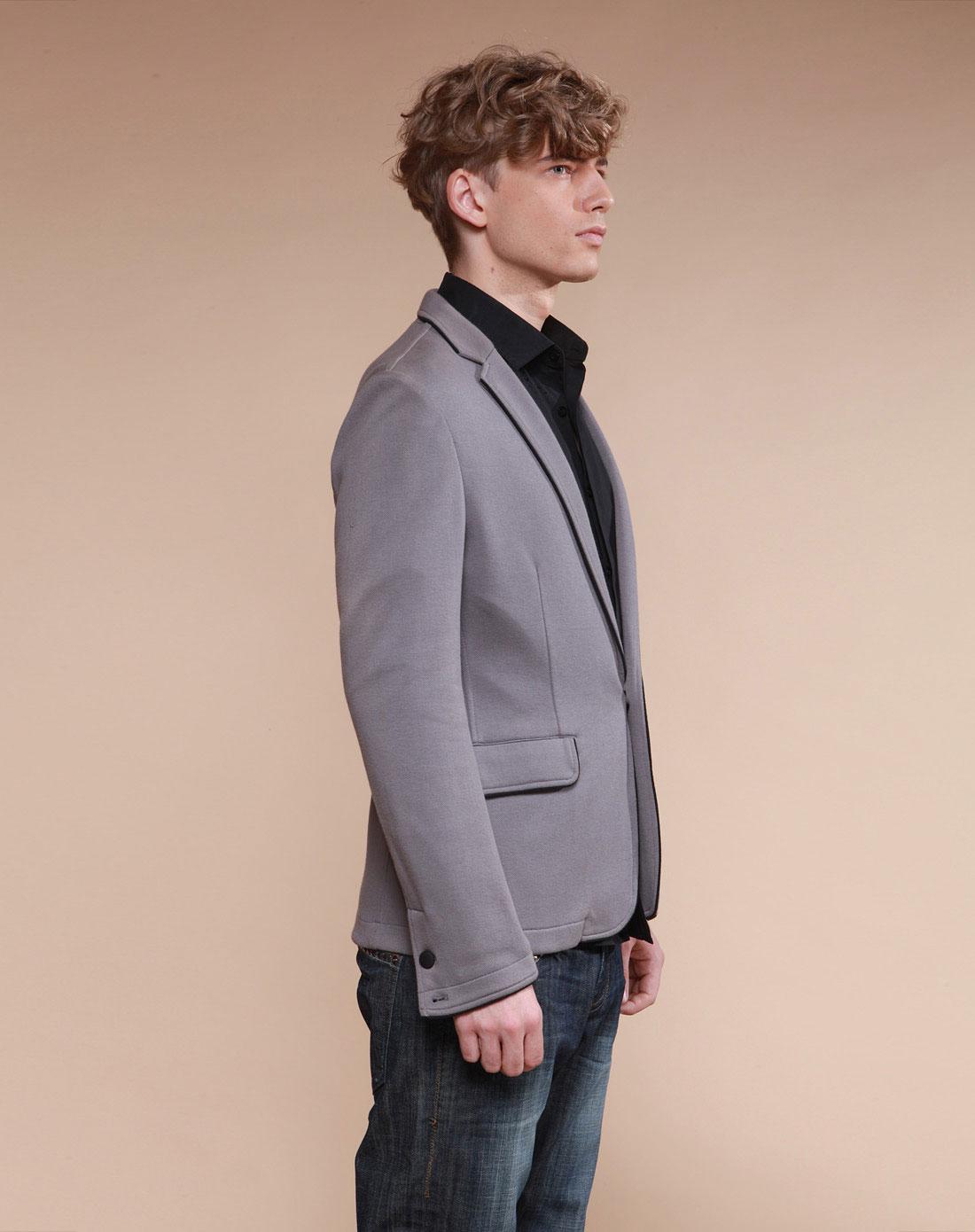 edge灰色_边缘地带EDGE灰色长袖西装108205003A32