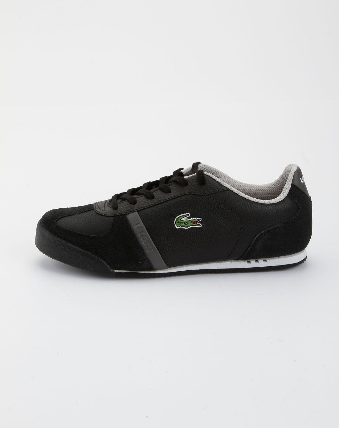 鳄鱼lacoste黑色休闲鞋