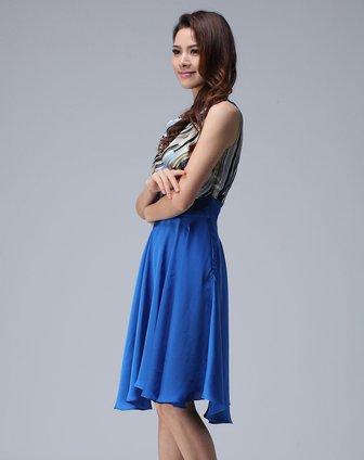 蓝色古装女