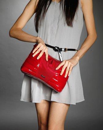 时尚优雅手拿包酒红色